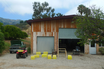 The Good Land processing shed. (Lisa Morehouse/KQED)