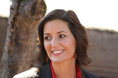 Councilwoman LIbby Schaaf lead the race throughout the evening as results rolled in. (Alex Emslie/KQED)