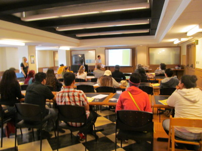 High school students training to be poll workers at San Francisco City Hall. (Stephanie Martin Taylor/KQED)
