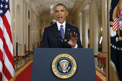 U.S. President Barack Obama announces executive actions on U.S. immigration policy . (Jim Bourg-Pool/Getty Images)