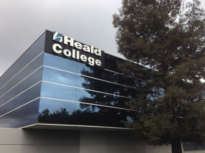 Heald College in Milpitas continues to operate as usual - for now. Its parent company, Corinthian Colleges, is in the process of selling off its assets, including Heald, Wyotech and Everest campuses. (Rachael Myrow/KQED)