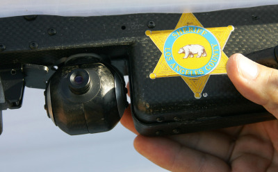 In 2006, The Los Angeles Sheriff's Dept. began experimenting with SkySeer drones to carry out surveillance and rescue operations. It marked the first time unmanned aerial vehicles, long used by the military in war zones, were used by law enforcement. (ROBYN BECK/AFP/Getty Images)