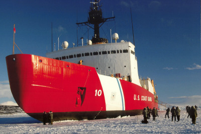 The U.S. Coast Guard icebreaker Polar Star.