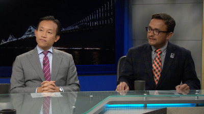 S.F. Supervisors David Chiu (L) and David Campos (R) debate on KQED Newsroom. The two square off in a District 17 Assembly Race.