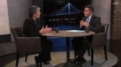 UC President Janet Napolitano and KQED's Scott Shafer.
