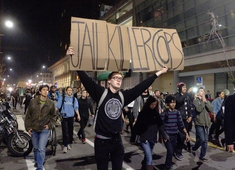 Police protest in Berkeley, California