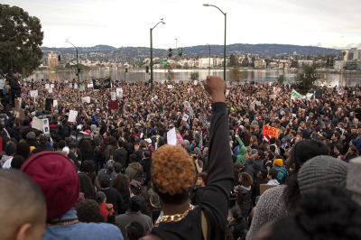 Thousands of people assembled in front of the Alameda County Court House Saturday as part of Millions March.