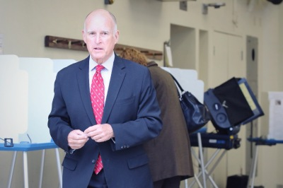 Gov. Jerry Brown may have had the best year in politics of anyone in California. (Jeremy Raff/KQED)