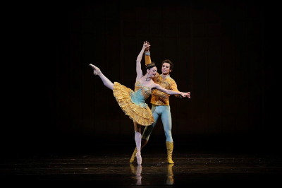 Principal dancer Lorena Feijoo and her partner, Vitor Luiz, in 'The Nutcracker' in San Francisco.