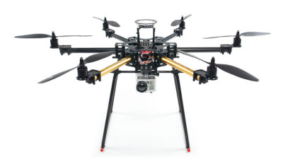 The San Jose Police Department has purchased and would like to use a Century NEO 660 Hex-Rotor with a Go-Pro camera attached. (Credit: Century Helicopter Products)