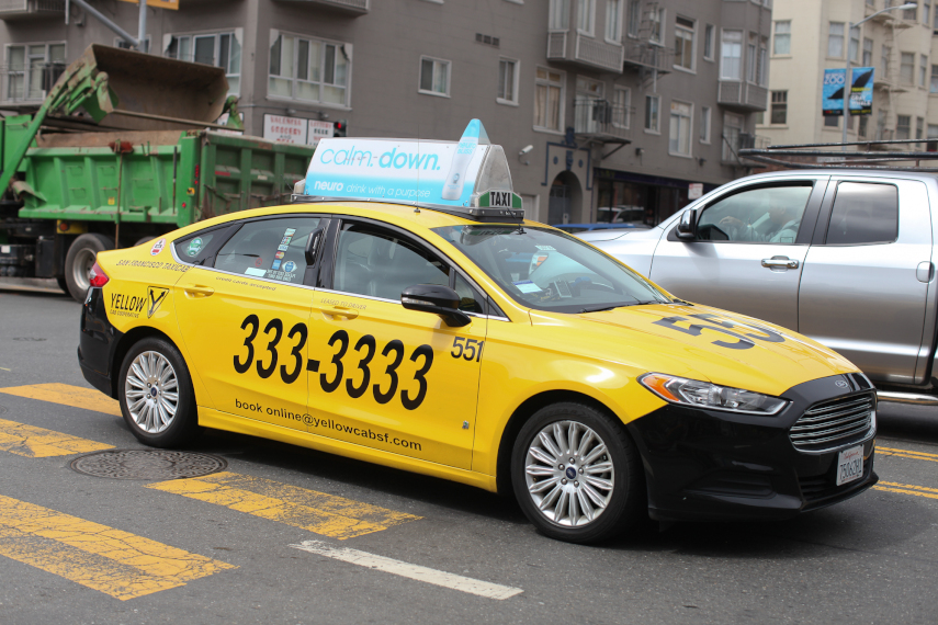 A taxi cab in San Francisco, taken July 31, 2013.