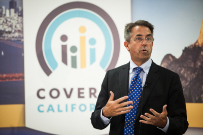 Peter Lee, executive director of Covered California, discusses last years' number of new enrollees on Nov. 13, 2013.