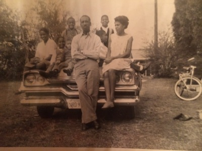 Pichon's immediate family in Little Rock, Arkansas circa 1950. (Courtesy Pichon)