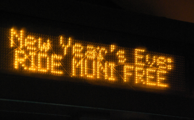 Muni will offer free rides on New Year's Eve.