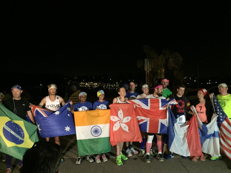 The World Marathon Challenge runners before starting the final race of their journey in Australia.