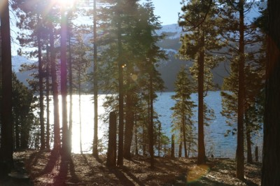 Barren shores remain in January at Fallen Leaf Lake, more than 6,000 feet above sea level in the northern Sierra.