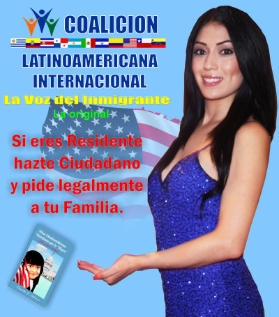 An ad for Coalicion Latinoamericana Internacional, a nonprofit legal consultancy that also claims to be an immigrant rights advocate. The Coalicion is facing numerous lawsuits and consumer complaints from former clients.