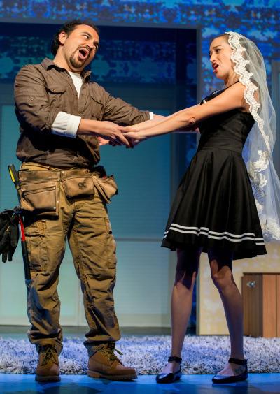Jose Adan Perez as Figaro and Maria Elena Altana as Susana.
