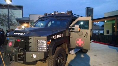 The BearCat MedEvac, which the San Leandro police would like to purchase.