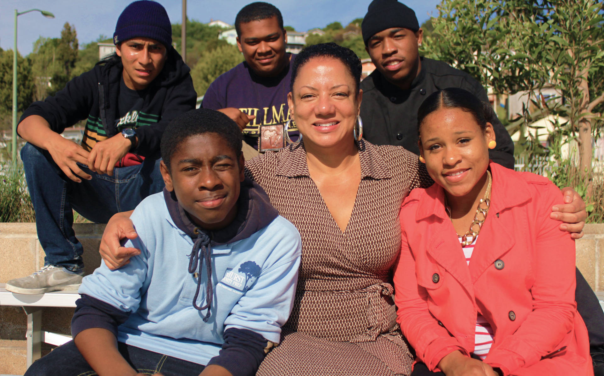 Olis Simmons with members of YouthUprising