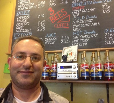"Rafat Haddad, owner of 3 Bees Coffee, says San Mateo has been attracting tech start ups. Large firms? Not so much, ""Because we don't have big spaces. So if they get big, they move on to another big space. So they keep the opportunity for others to come again."""