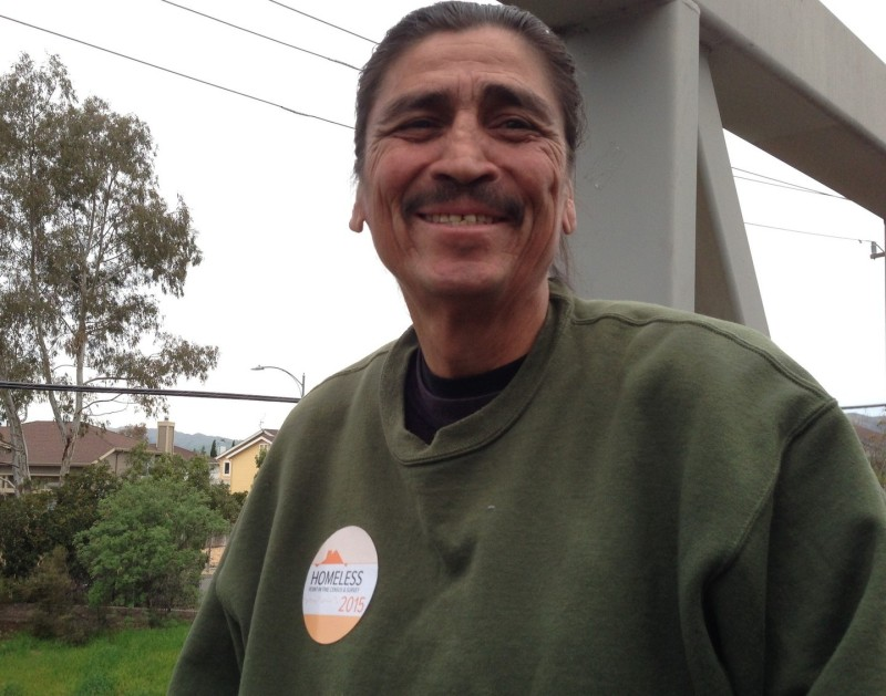 Nick grew up in the Alum Rock area. Family troubles and alcoholism led him to the streets, but he's housed now, working with a local group called Downtown Streets Team. He's also an excellent guide for a homeless survey.