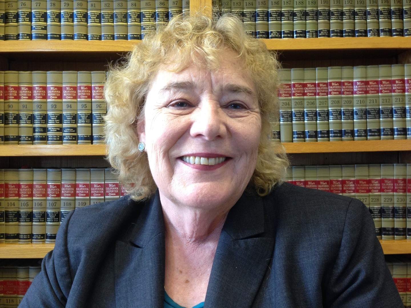 Congresswoman Zoe Lofgren, photographed in her San Jose office.