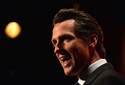 Lt. Gov. Gavin Newsom won't run for the U.S. Senate seat being vacated by the retiring Barbara Boxer. (Frazer Harrison/Getty)
