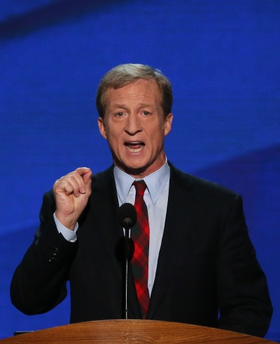 Billionaire environmental activist Tom Steyer at the 2012 Democratic National Convention.
