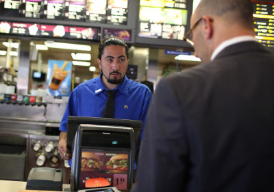 McDonald's employee Salvador Ibarra.