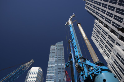 Construction site in downtown San Francisco, March 2014. (Mark Andrew Boyer/KQED)