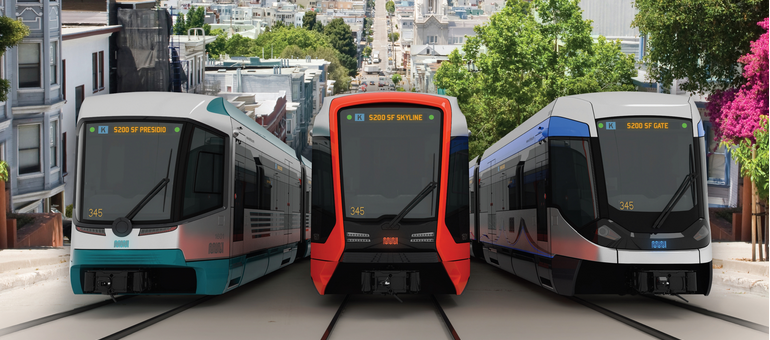 New Muni trains made by Siemens are expected to begin arriving in 2016.