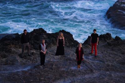 Hidden in the Sun (L-R): Sean Alexander, Scott Rouse, Ciara McAllister, Lizzie Clapper, Jason Vivrette.(Courtesy of Scott Rouse)