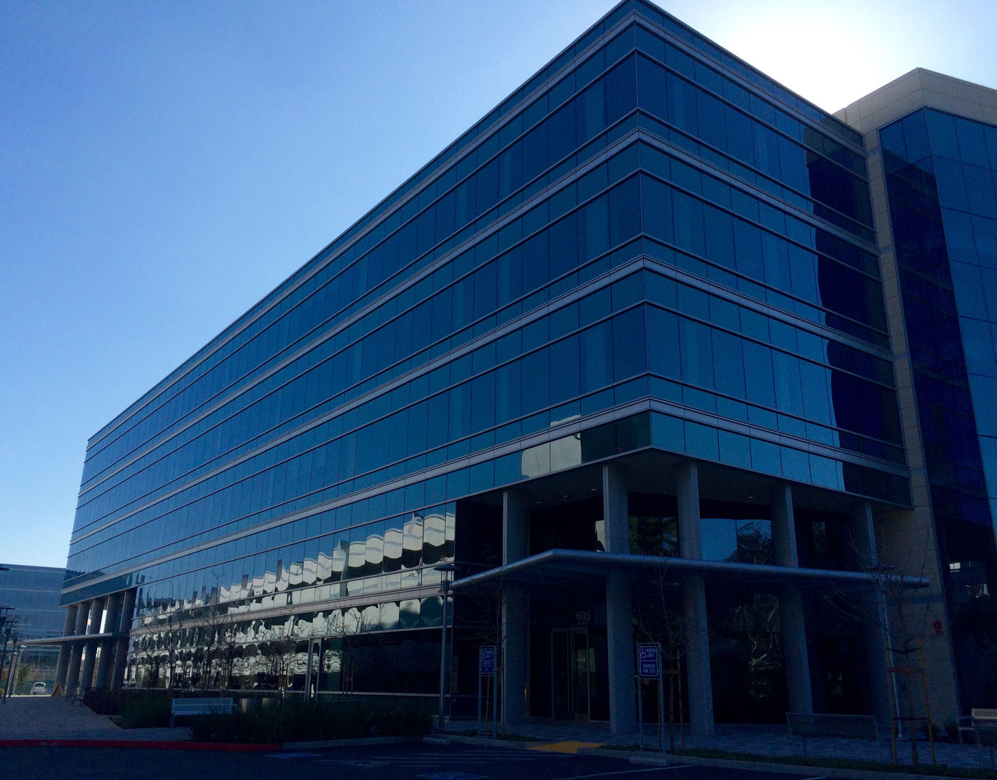 The new LinkedIn office in Sunnyvale was built by global developer Kilroy Realty based in Los Angeles.   Beth Willon/KQED