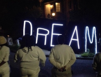 Protesters gather outside Oakland Mayor Libby Schaaf's home early Monday on Martin Luther King Jr. Day.