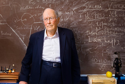 Physicist Charles Townes, pictured in 2013 in his UC Berkeley office.