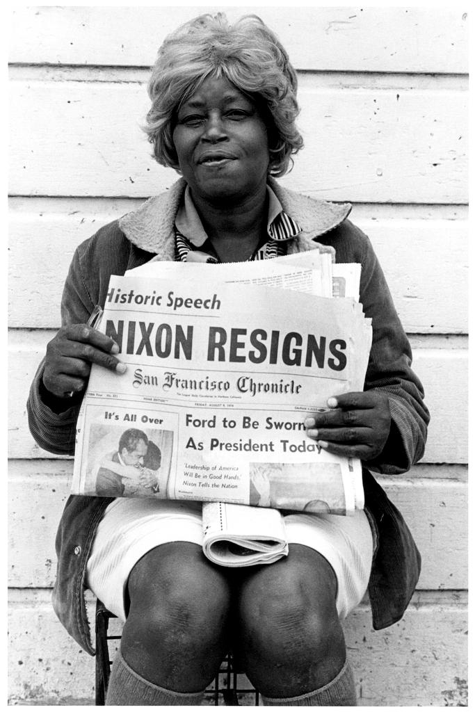 Nixon resigns. Oakland, California, 1974.