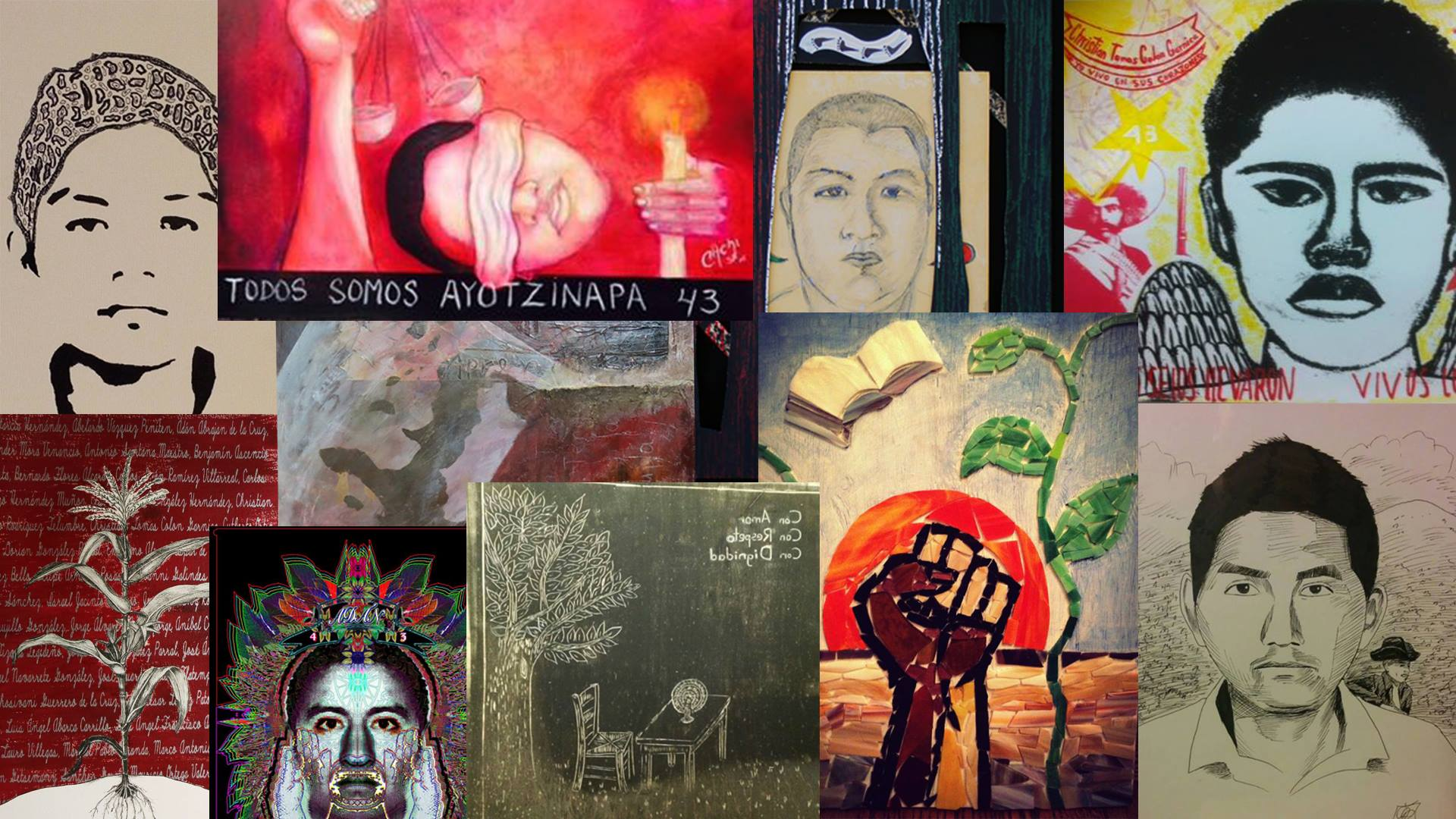 Bay Area artists have created 43 works to raise awareness about 43 Mexican students who disappeared in September 2014 and are presumed to have been murdered.