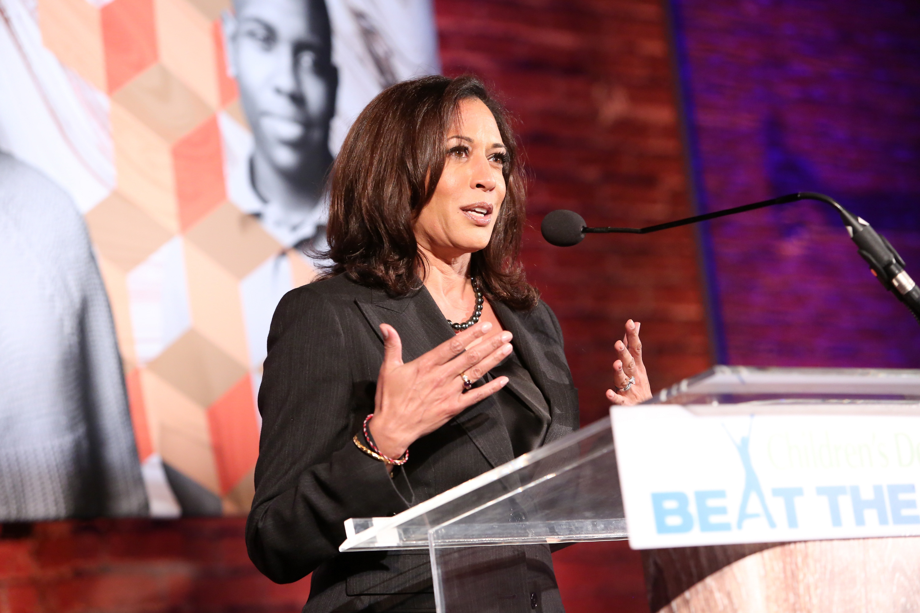 'The only poll that counts is Election Day, and nothing else matters,' Kamala Harris says.