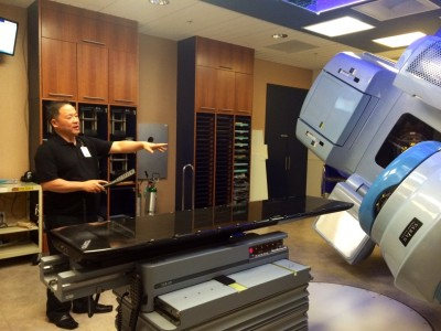 The state-of-the-art linear accelerator is at the Sobrato Cancer Center because of a million dollar contribution made by the Sobrato Foundation.