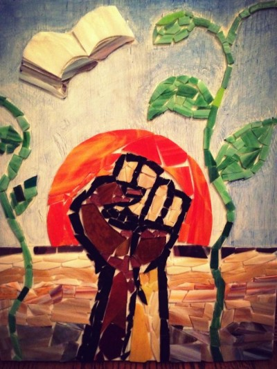 This painting from artist Carolina Stankiewich honors the memory of one of the 43 Mexican students who disappeared.