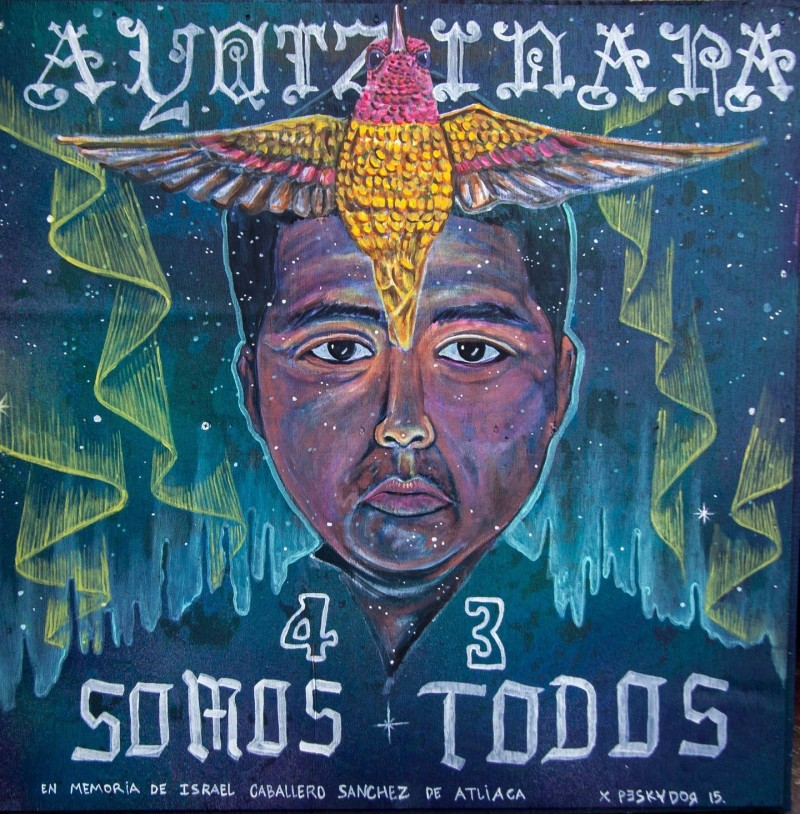"Pancho Pescador will show his painting as part of the art show ""Desde San Francisco a Ayotzinapa, Somos 43."""