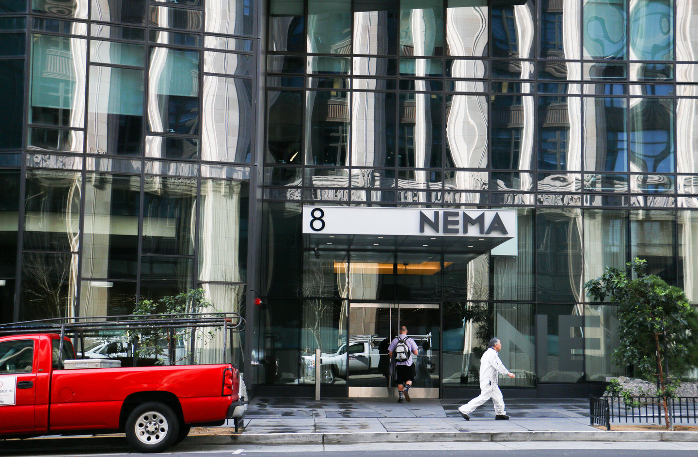 The NEMA Apartments at 8 10th St. are not a favorite of KQED listener Dave Taylor. (Katie Brigham/KQED)