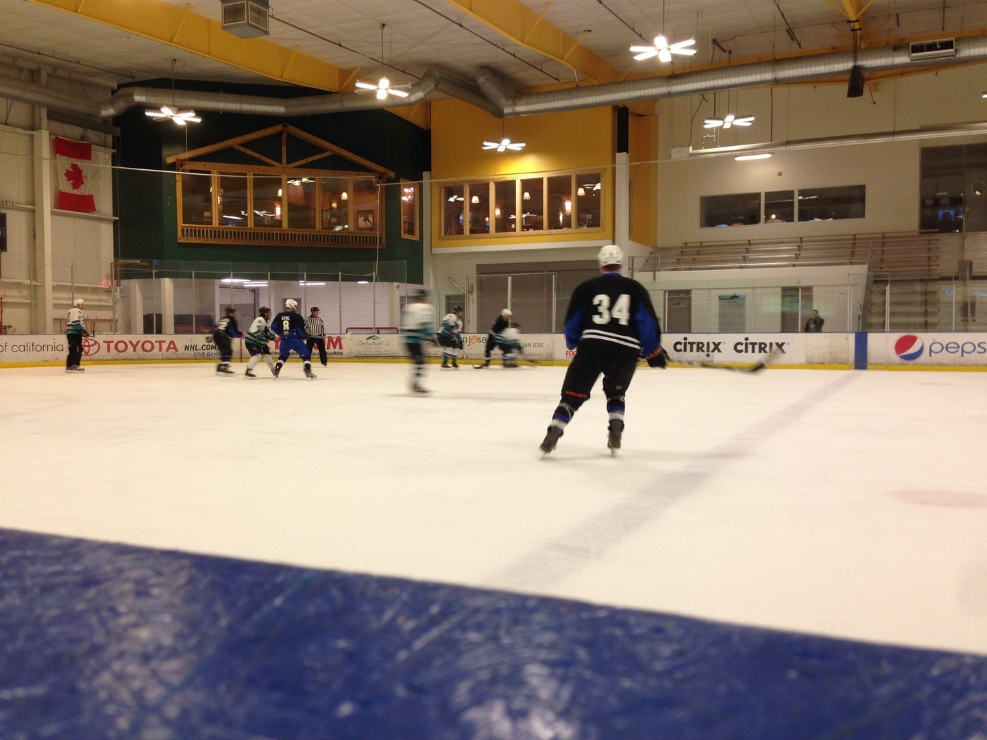 The Southsiders face off against the Senior Sharks at Sharks Ice in San Jose.
