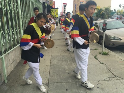 """As they march, the drummers shout, """"Ajulshigoo-johta!"""" – it's basically a vocal high-five."""