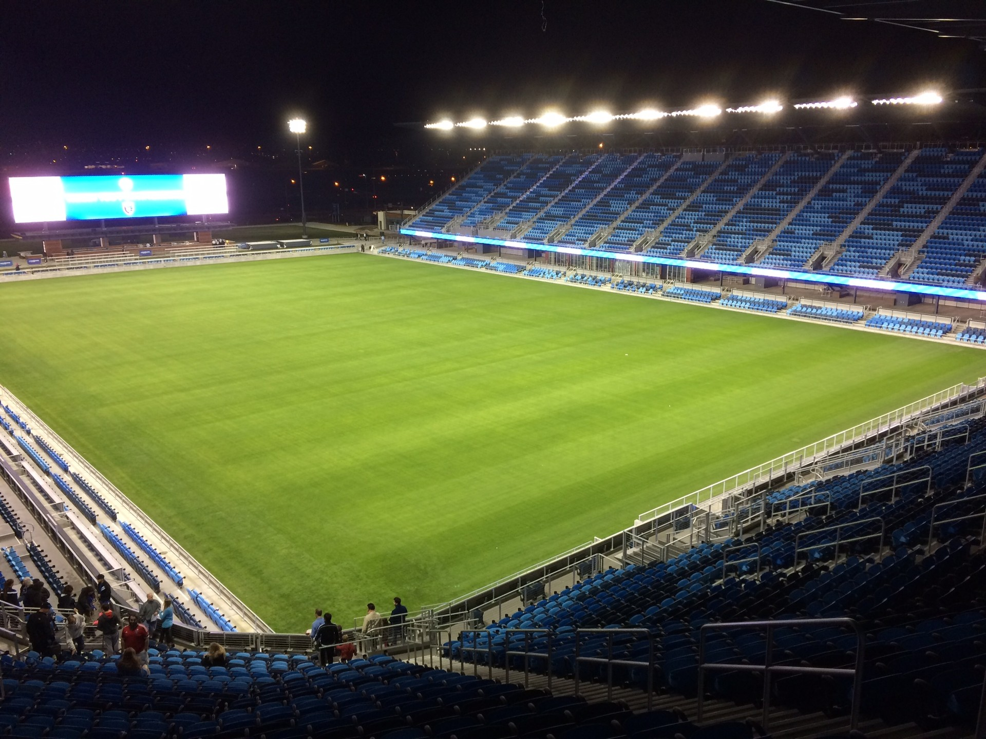 The San Jose Earthquakes, a professional soccer team, finally gets a permanent home called Avaya Stadium.