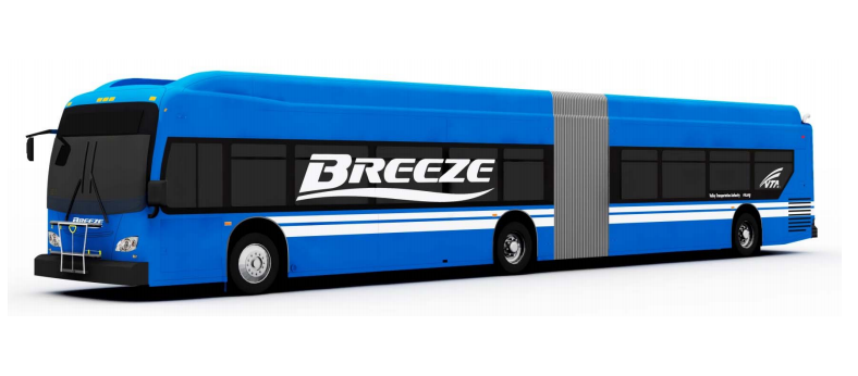 "The new bus rapid transit system in Silicon Valley is tentatively being called ""Breeze."""
