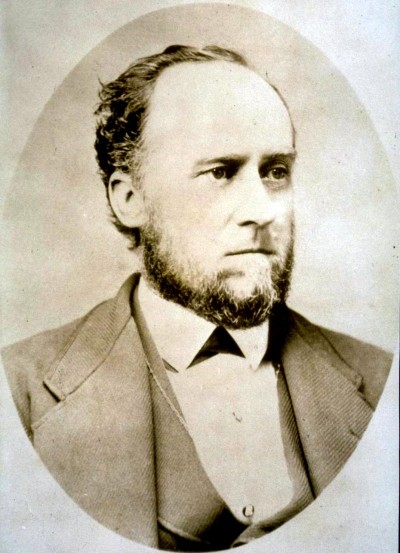 William C. Ralston, president of the Bank of California, drowned in San Francisco Bay the day after a run on the bank revealed it to be bankrupt.