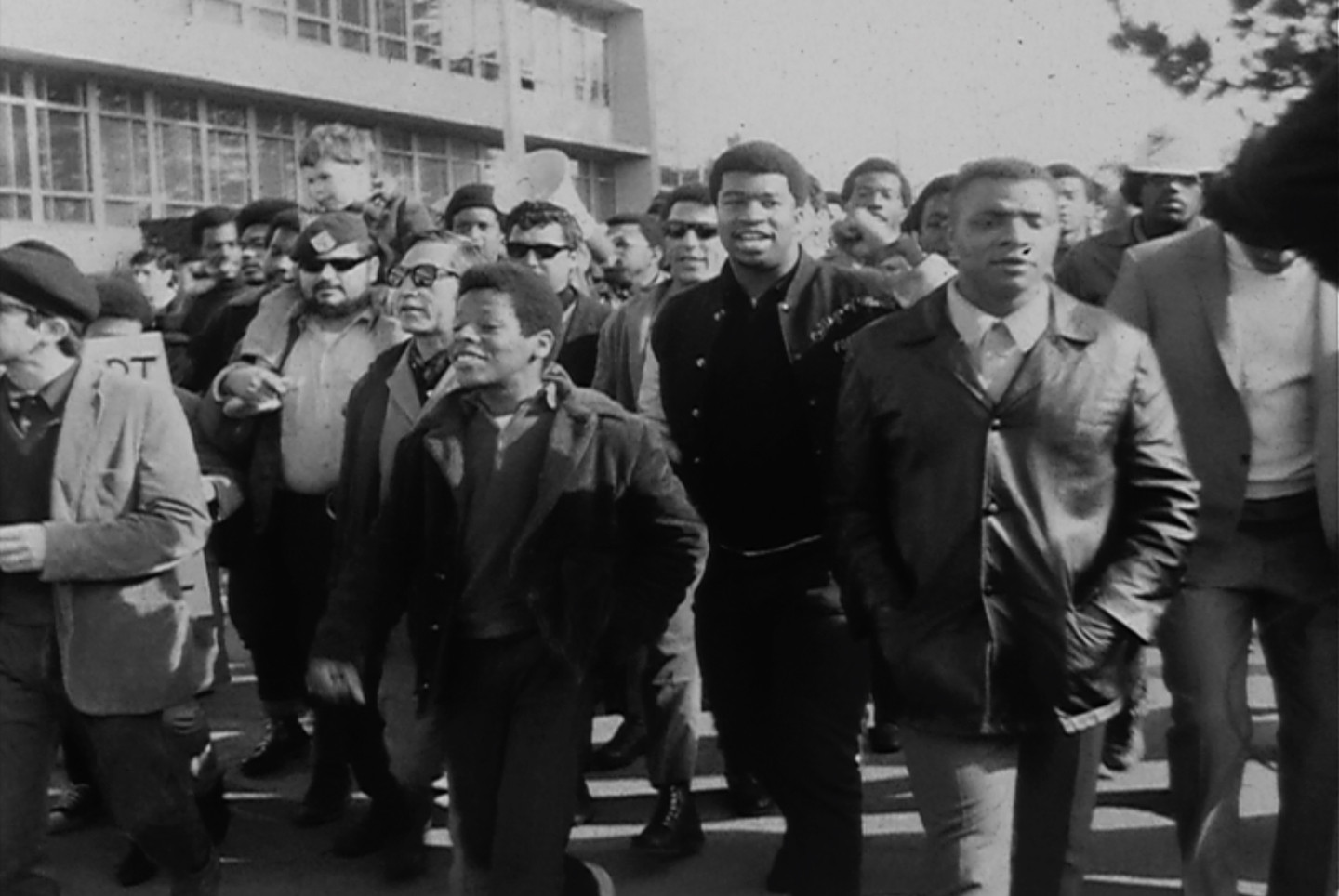 A group of community leaders march in solidarity with the Black Students Union at San Francisco State on Dec. 4, 1968.