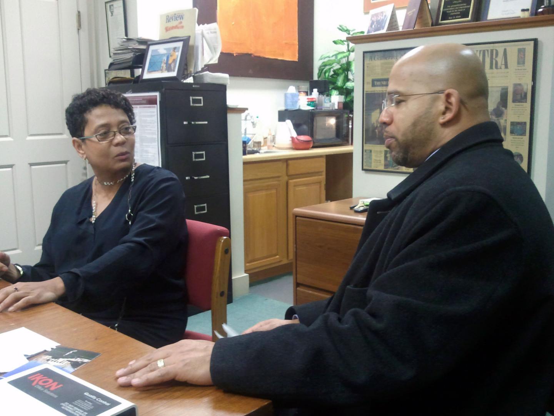 Dori Maynard and Martin G. Reynolds at the Robert C. Maynard Institute for Journalism Education.
